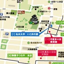 大垣市中心街地回遊マップ
